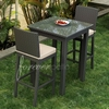 Wicker Forever Patio 3 Pc Barbados Bar Table & Stool Set