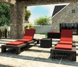 Wicker Forever Patio 3 Pc Capistrano Chaise Lounge Set