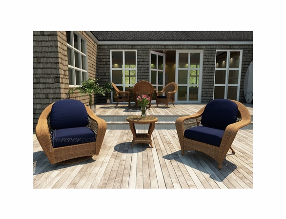 Wicker Forever Patio 3 Pc Catalina Chat Seating Set