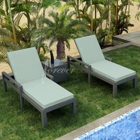 Wicker Forever Patio 3 Pc Hampton Chaise Lounge with Arms Set
