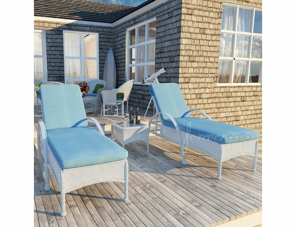 Wicker Forever Patio 3 Pc Rockport Lounge Set