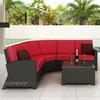 Wicker Forever Patio 4 Pc Barbados Deep Seating Sectional Set