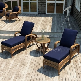 Wicker Forever Patio 3 Pc Catalina Chaise Lounge Set
