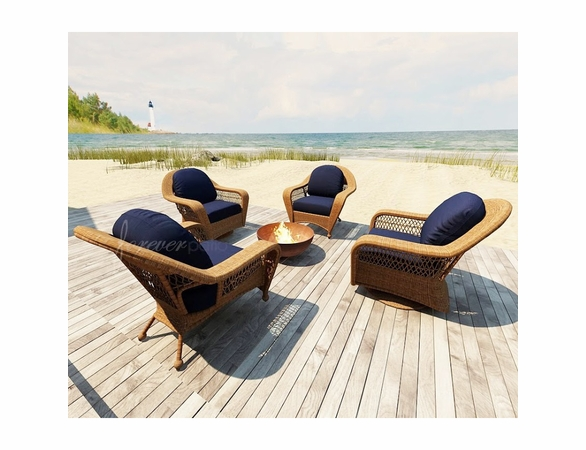 Wicker Forever Patio 4 Pc Catalina Chat Seating Set