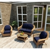 Wicker Forever Patio 4 Pc Catalina Sofa Seating Set