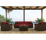 Wicker Forever Patio 4 Pc Hampton Deep Seating Sofa Set