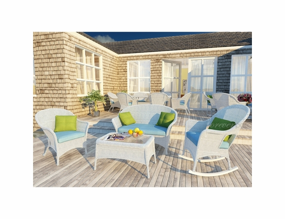 Wicker Forever Patio 4 Pc Rockport Sofa Seating Set