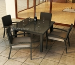"Wicker Forever Patio 5 Pc Barbados 48"" Square Dining Set"