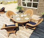"Wicker Forever Patio 5 Pc Catalina 48"" Round Dining Set"
