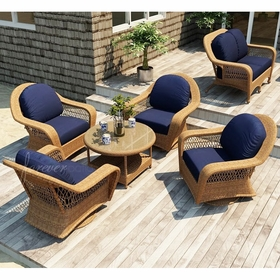 Wicker Forever Patio 5 Pc Catalina Chat Seating Set