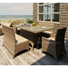 """Wicker Forever Patio 5 Pc Cypress 42"""" x 72"""" Dining Set with Loveseat"""