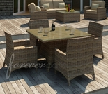 "Wicker Forever Patio 5 Pc Cypress 48"" Square Dining Set"