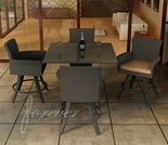 "Wicker Forever Patio 5 Pc Hampton 36"" Square Pub Bar Set"