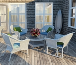 Wicker Forever Patio 5 Pc Rockport Chat Seating Set