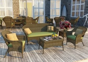 Wicker Forever Patio 5 Pc Rockport Sofa Seating Set