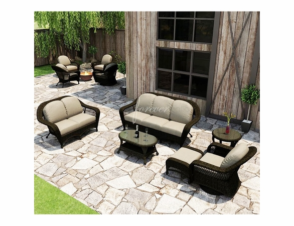 Wicker Forever Patio 6 Pc Catalina Sofa Seating Set