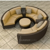 Wicker Forever Patio 6 Pc Hampton Curved Loveseat Large Sectional Set