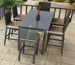 Wicker Forever Patio 7 Pc Barbados Large Bar Set