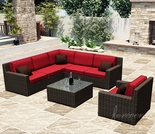 Wicker Forever Patio 7 Pc Capistrano Deep Seating Sectional Set