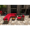 Wicker Forever Patio 7 Pc Cypress Deep Seating Sectional Set