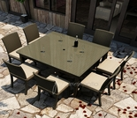 "Wicker Forever Patio 9 Pc Barbados 60"" Square Dining Set"