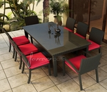 "Wicker Forever Patio 9 Pc Barbados 84"" Rectangular Dining Set"