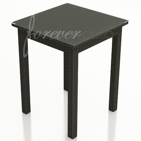 """Wicker Forever Patio Barbados 30"""" Square Pub Height Table"""