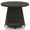 "Wicker Forever Patio Barbados 32"" Round High Coffee Table"