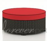 """Wicker Forever Patio Barbados 34"""" Large Round Ottoman"""