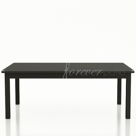 """Wicker Forever Patio Barbados 84"""" Rectangular Dining Table"""