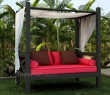 Wicker Forever Patio Barbados Canopy Day Lounger