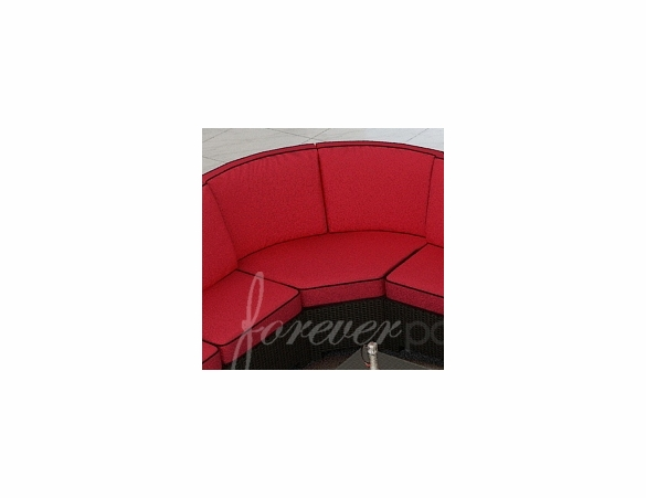 Wicker Forever Patio Barbados Sectional Curved Corner Piece