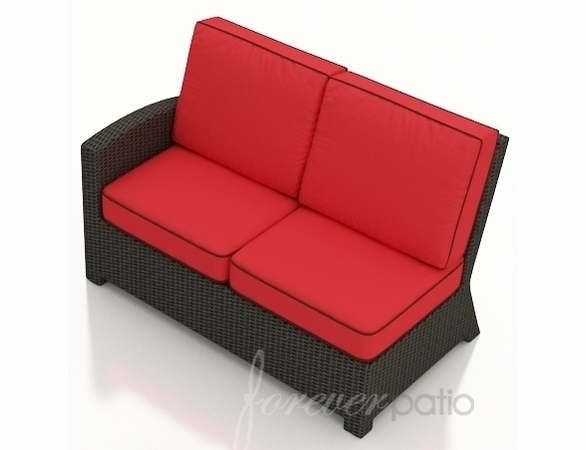 Wicker Forever Patio Barbados Sectional Left Arm Facing Loveseat