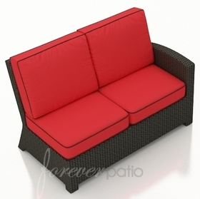 Wicker Forever Patio Barbados Sectional Right Arm Facing Loveseat