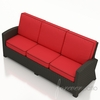Wicker Forever Patio Barbados Sofa