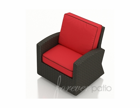 Wicker Forever Patio Barbados Swivel Glider Club Chair