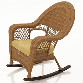Wicker Forever Patio Catalina High Back Rocker