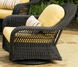 Wicker Forever Patio Catalina High Back Swivel Glider Chair