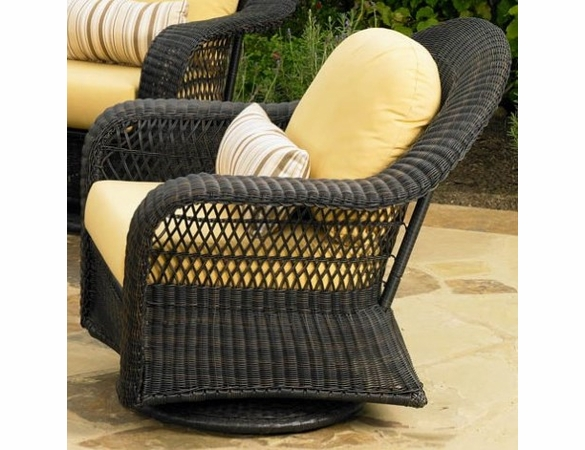 High Back Patio Furniture: Forever Patio Catalina Wicker High Back Swivel Glider
