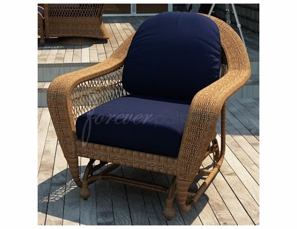 Wicker Forever Patio Catalina Swivel Glider Chair