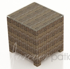 "Wicker Forever Patio Cypress 20"" Square End Table"