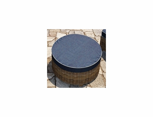 "Wicker Forever Patio Cypress 34"" Dia Round Ottoman"