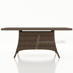 "Wicker Forever Patio Cypress 42"" x 72"" Rectangular Dining Table"