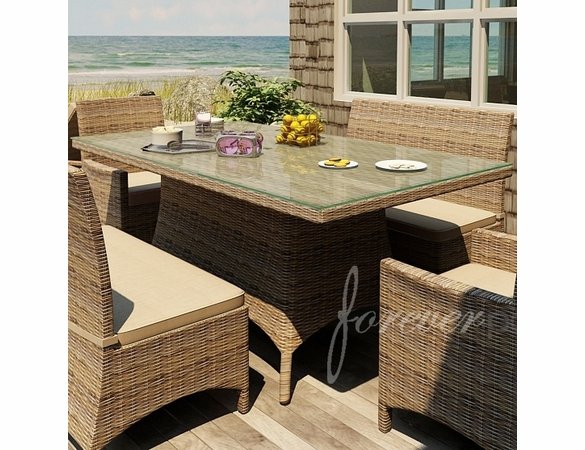 Wicker Forever Patio Cypress 42 X 72 Rectangular Dining Table
