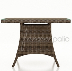 "Wicker Forever Patio Cypress 48"" Square Dining Table"