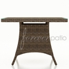 """Wicker Forever Patio Cypress 48"""" Square Dining Table"""