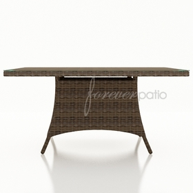 """Wicker Forever Patio Cypress 60"""" Square Dining Table"""
