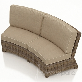 Wicker Forever Patio Cypress Curved Sofa