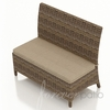 Wicker Forever Patio Cypress Dining Loveseat Bench