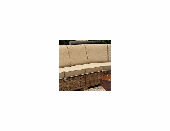 Wicker Forever Patio Cypress Sectional Armless Chair